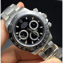 Rolex Daytona Swiss Replica Watch 116500LN-0002 Black Dial 40mm (Super Model)