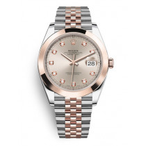 Replica Rolex Datejust II Swiss Watches 126301-0008 Rose Gold Dial 41mm(High End)