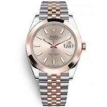 Replica Rolex Datejust II Swiss Watches 126301-0010 Rose Gold Dial 41mm(High End)