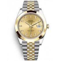 Replica Rolex Datejust II Swiss Watches 126303-0012 Gold Dial 41mm(High End)
