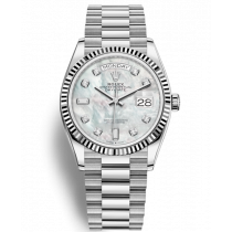 Replica Rolex Day-Date Swiss Watches 128239-0007 MOP Dial 36mm(High End)