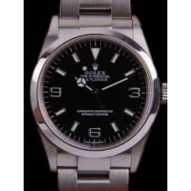 Swiss Rolex Explorer 114270-78690 Black dial Men Automatic Replica Watch