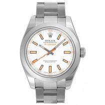Rolex Milgauss 116400-72400 White Dial Men Automatic Replica Watch