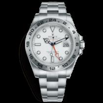 Swiss Replica Rolex Explorer II White Dial Orange GMT Hand (Super Model)