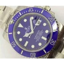 Rolex Submariner Replica Swiss Watch Blue Dial 40MM (High End)