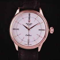 Swiss Rolex Cellini Time 50505 White dial 18K Rose Gold Men Automatic Replica Watch