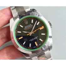 Rolex Milgauss Swiss Replica Watch 116400GV-0001 Black Dial Super Model)