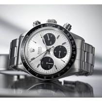 Replica Rolex Daytona Vintage Swiss Watches Black Bezel White Dial 40mm(High End)