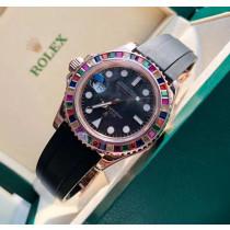 Rolex Yacht-Master Swiss Replica Watch Rainbow Bezel 40mm (Super Model)
