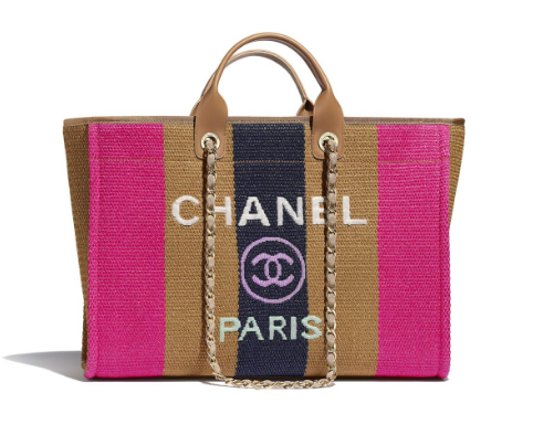 Chanel Handbags for Women Large Size Shopping Bags Pink