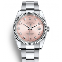 Rolex Datejust Replica Watches 115234-0009 Pink Dial 34mm
