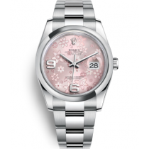 Rolex Datejust Swiss Automatic Watch 116200-0072 Pink Floral Dial 36mm (High End)