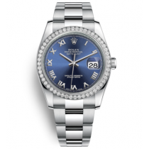 Rolex Datejust Swiss Automatic Watch 116244-0056 Blue Dial 36mm (High End)