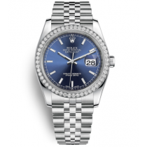 Rolex Datejust Swiss Automatic Watch 116244-0063 Blue Dial 36mm (High End)