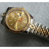 Replica Rolex Datejust II Automatic Two-Tone Watch 126333-0010 Gold Dial 41mm