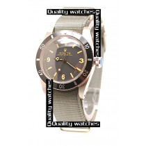 Rolex Submariner Domed Crystal Grey Nylon strap Automatic Replica Watch