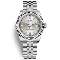 Replica Rolex Datejust Ladies Swiss Watches 178274-0009 Silver Dial 36mm(High End)