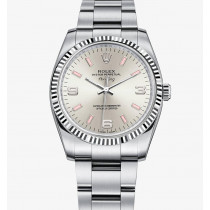 Rolex Air-King 114234 Silver dial Pink time markers Ladies Automatic Replica Watch