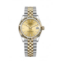 Replica Rolex Datejust Ladies Swiss Watches 278273-0014 Gold Dial 31mm(High End)