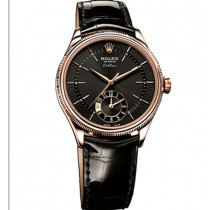 Rolex Cellini Swiss Automatic Watch Rose Gold 50525-0011 Black Dial 39mm (High End)