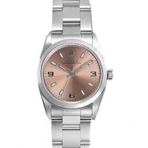 Rolex Oyster Perpetual Replica Watches SS Stainless Steel Bronze Dial Arabic Bar Hour markers V
