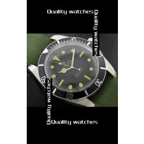 Rolex Submariner Domed Crystal Green Nylon strap Automatic Replica Watch