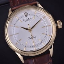 Swiss Rolex Cellini 18K Yellow Gold White Dial Stick Time Markers Automatic Replica Watch