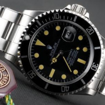 Rolex Submariner SS Case Black Dial Yellow Hour Markers SWRX927