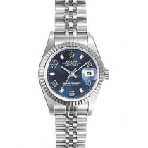 Rolex Datejust Replica Watches Jubilee Blue Dial Arabic Hour markers 34mm