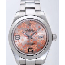 Rolex Datejust II Replica Watches Pink Dial RX4123