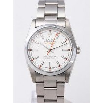 Rolex Milgauss Replica Watches White Dial SS Band RX8383