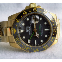 Rolex GMT-Master II 18K Gold Green Hand Black dial Automatic Replica Watch