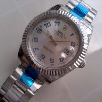 Rolex Datejust II Silver White Dial Blue Hour Markers