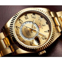 Dial:Brilliant Gold Dial, Gold Hour hand, Minute Hand, Second Hand