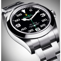 Rolex Air-King Swiss Automatic Watch 116900-0001 Black Dial 40mm (High End)