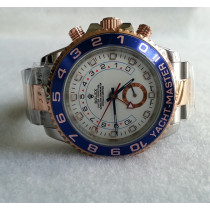 Replica Rolex Yacht-Master II Automatic Two-Tone Watch 116681-0001 White Dial 44mm