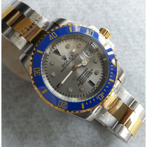 Replica Rolex Submariner Automatic Two-Tone Watch Silver Gray Dial 40mm