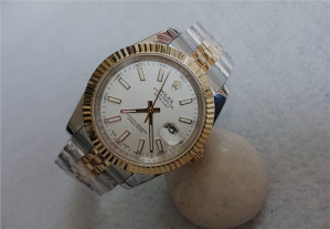 Rolex Datejust II Automatic Replica Watches Two-Tone Jubilee Whited Dial 41mm